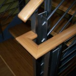 Contemporary Bamboo and Metal handrail